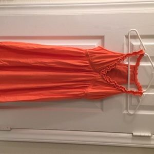 Coral/ orange summer dress